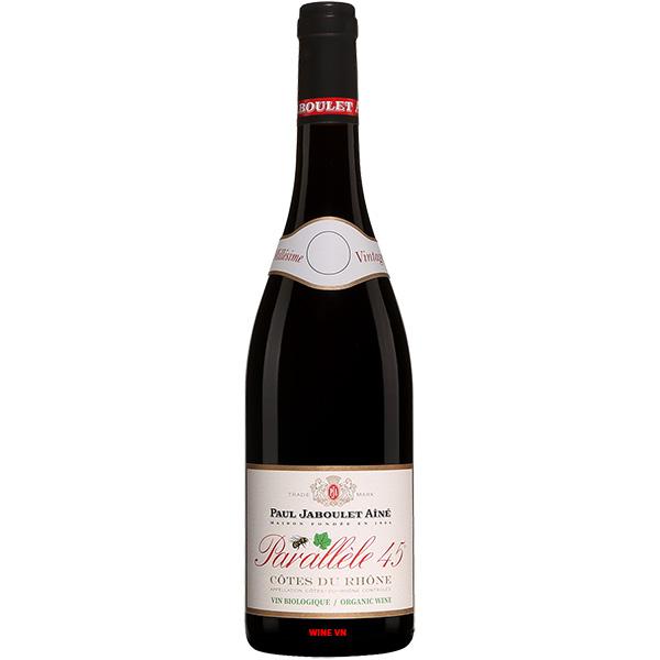 Rượu Vang Paul Jaboulet Ainé Côtes Du Rhône Parallèle 45