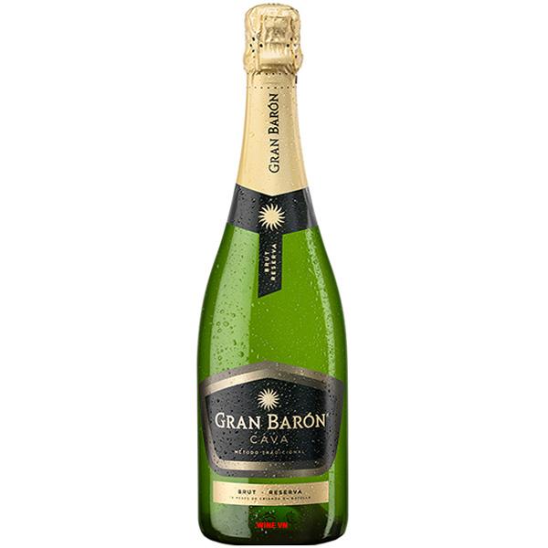 Rượu Vang Sủi Gran Baron Cava Brut Reserva