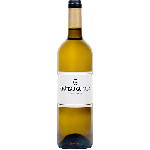 Rượu Vang Trắng Chateau Guiraud G