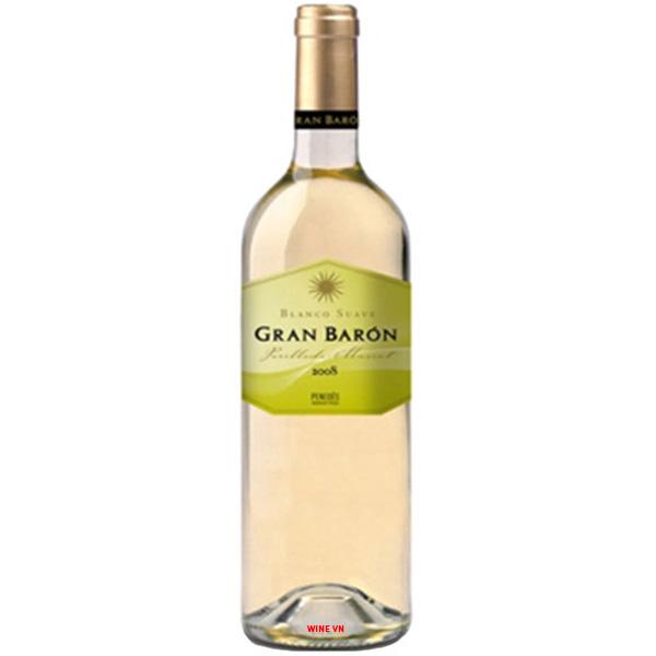Rượu Vang Trắng Gran Baron Blanco Suave