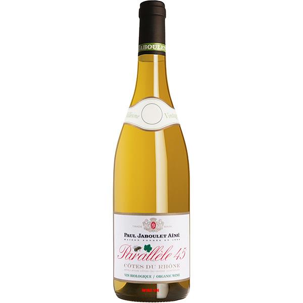 Rượu Vang Trắng Paul Jaboulet Aine Parallele 45 Cotes Du Rhone