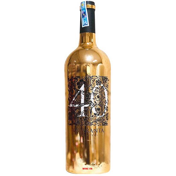 Rượu Vang Ý 40 Quaranta Primitivo Puglia