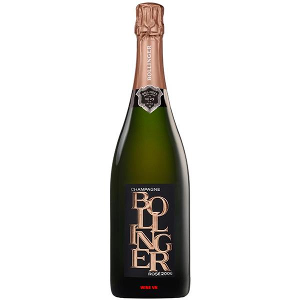 Rượu Champagne Bollinger Rose Limited 2006