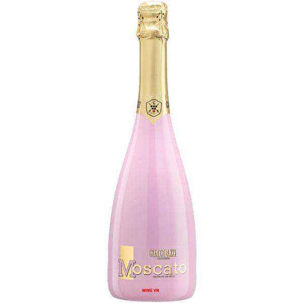 Rượu Sparkling Giacobazzi Moscato Rose