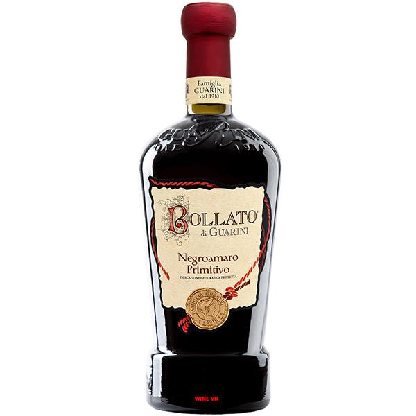 Rượu Vang Bollato Di Guarini Negroamaro - Primitivo
