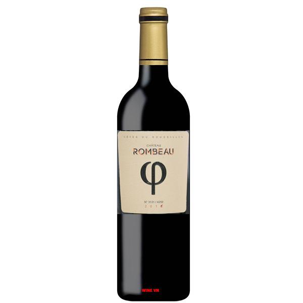 Rượu Vang Chateau Rombeau φ