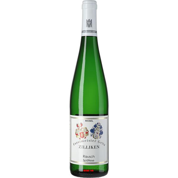 Rượu Vang Đức Forstmeister Geltz Zilliken Rausch Spatlese