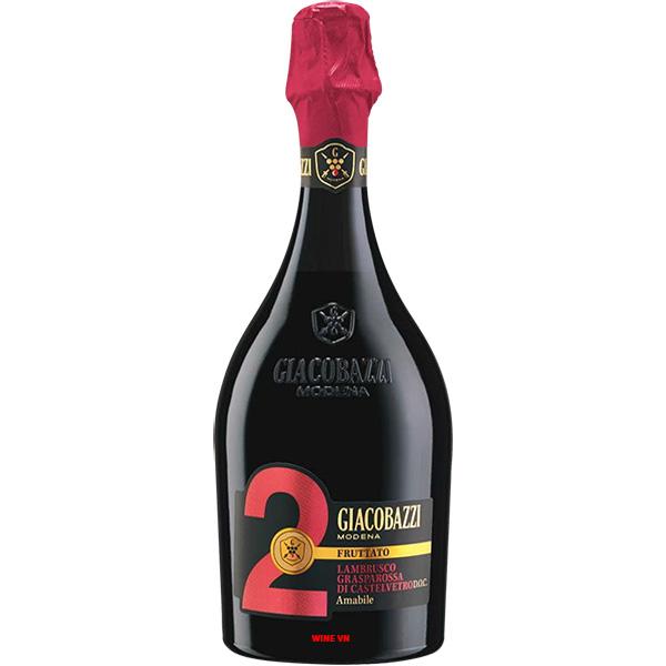 Rượu Vang Giacobazzi 2 Fruttato Lambrusco Amabile