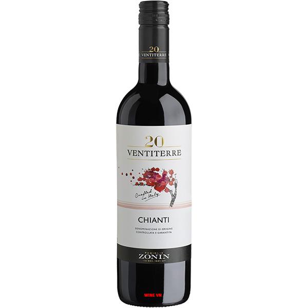 Rượu Vang Zonin 20 Ventiterre Chianti