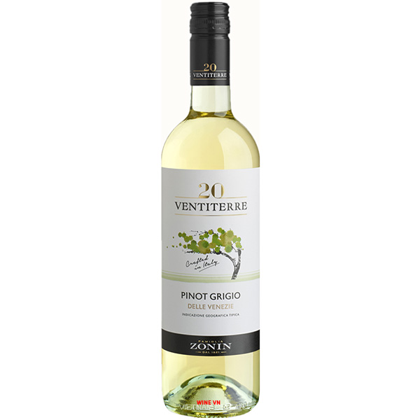 Rượu Vang Zonin 20 Ventiterre Pinot Grigio Delle Venezie