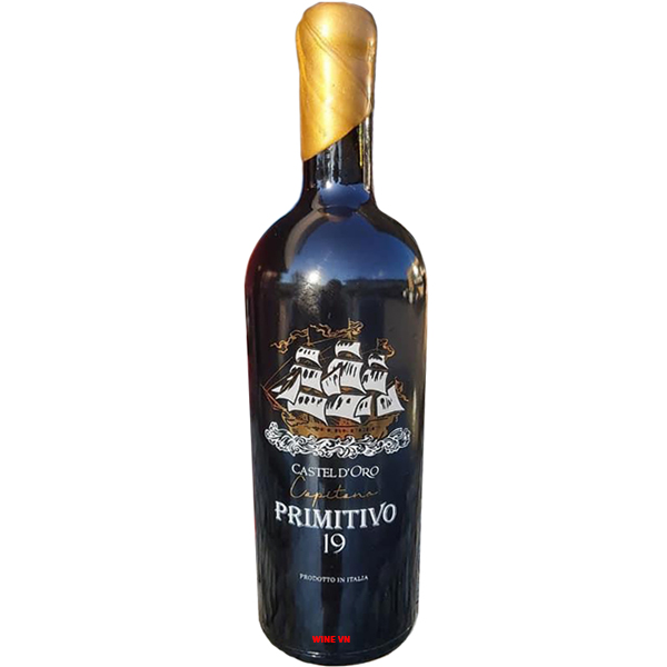 Rượu Vang Capetana Primitivo Castel D'oro 19 Độ